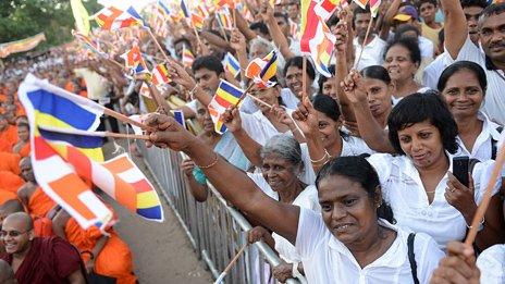 Hardline Buddhist rally in Maharagama