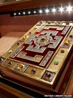 The Lindisfarne Gospels (c) British Library Board