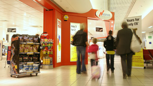 Inside Cardiff Airport