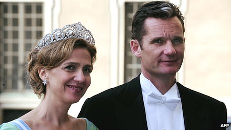 This June 2010 photo shows Spanish Princess Cristina and her husband attending a wedding