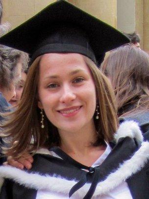 Emily Dreyfus at her graduation ceremony