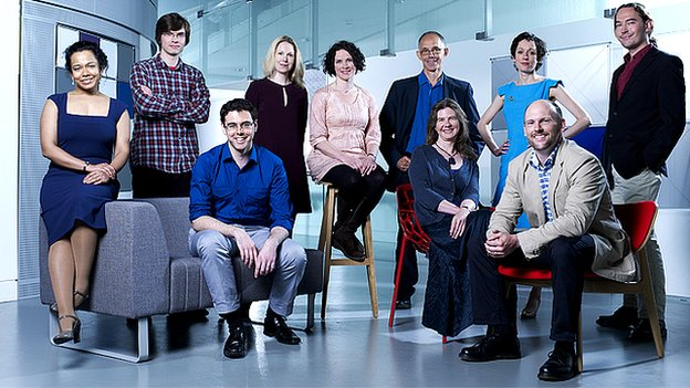 Group photograph of the New Generation Thinkers, 2012