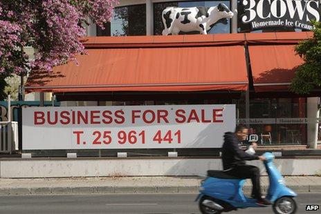 Closed ice cream business in Nicosia, 9 Apr 13