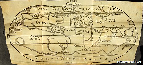 Map showing putative route to China via Frobisher's Straightes, from 8. Sir George Best, • A True Discourse of the Late Voyages of Discoverie for the Finding of a Passage to Cathaya (London, 1578)