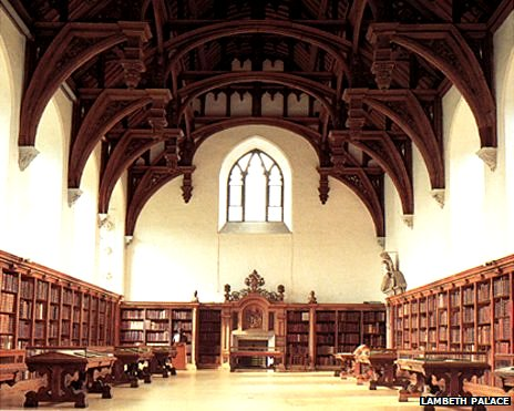 The library in Lambeth Palace's Great Hall