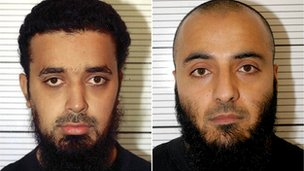Bahader Ali,19, (left) and Mohammed Rizwan, 34