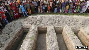 Graves in Dhaka, Bangladesh, 1 May