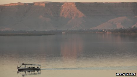 A boat on the Nile in the south of Egypt