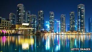 Dubai shore line