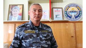 Almazbek Malabekov, police chief of Suzak district, Jalalabad