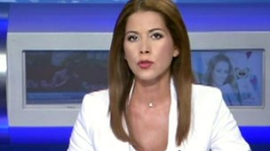 Olga Psaridou, on screen for ERT