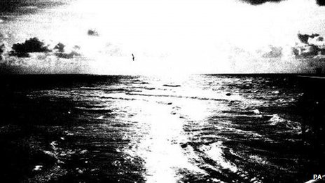 Undated handout photo issued by The National Archives of a photograph of a UFO  taken from Blackpool Pier, Lancashire, October 2008
