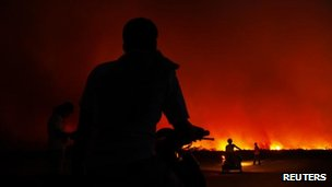 Fire in Riau province, Indonesia, 22 June