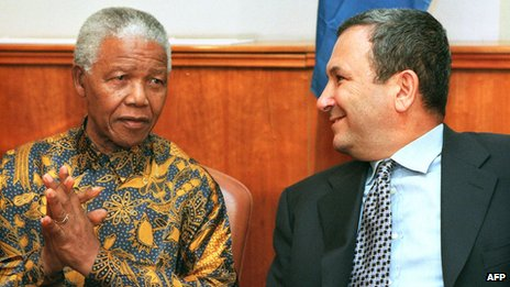 Mandela and Ehud Barak (Oct 1999)