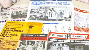 The archive features a range of publications such as Bulldog and Blood & Honour