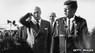 President John F Kennedy and Prime Minister Harold Macmillan