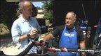 Matt Slater with cycling team Garmin-Sharp mechanic Geoff Brown