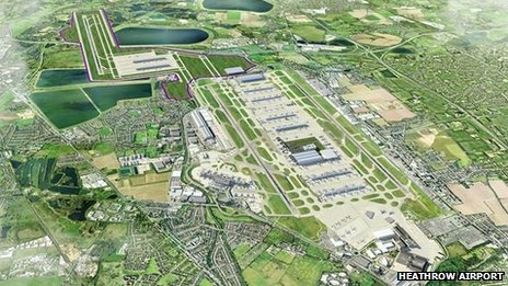 One of the airport's preferred options is to have a runway to the south-west of the existing airport