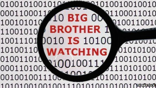 Code with words Big Brother is Watching embedded