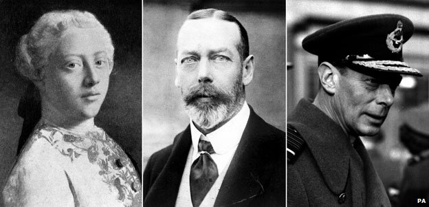 King George III, King George V and King George VI