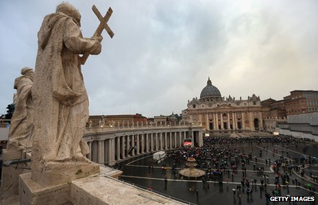 St Peter's Square in the Vatican City