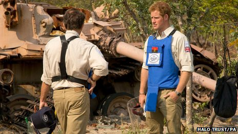 Prince Harry in Angola in August 2013