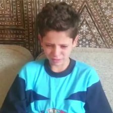 Young boy breaks down on camera whilst describing the attack to activists