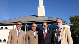 Dr Hossein Godazgar, HE Mr Mirza Al-Sayegh, HE Abdulrahman Ghanem Almutaiwee, Lord Elder