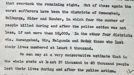 A copy of the Sunderlal report