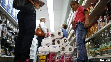 Supermarket in Venezuela, May 13