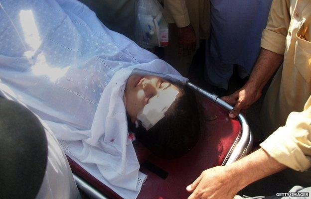 Injured Malala
