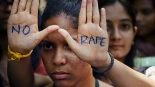 An Indian student demanding the death sentence for four men convicted of rape and murder of a student on a New Delhi bus - 13 Sept 2013