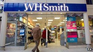 WHSmith магазине
