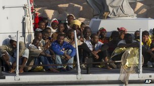 Rescued migrants, July 2013
