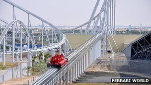 Still of Formula Rossa coaster