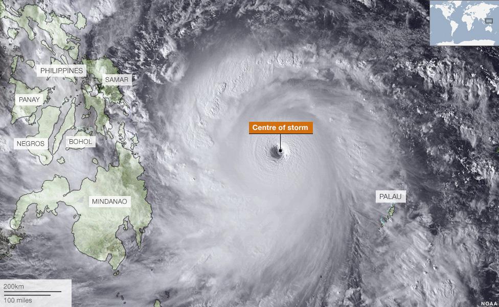 Updated Satellite Image Typhoon Yolanda Philippines