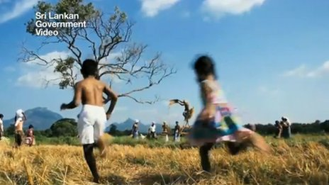 A still from a Sri Lankan government promotional video