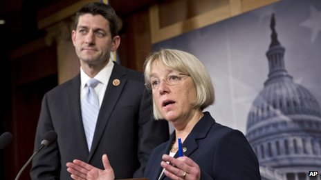 Congressman Paul Ryan (left) and Senator Patty Murray (right)
