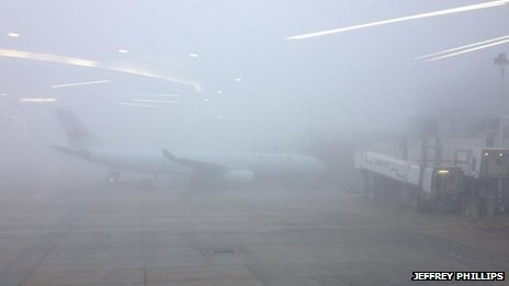 Niebla en Heathrow