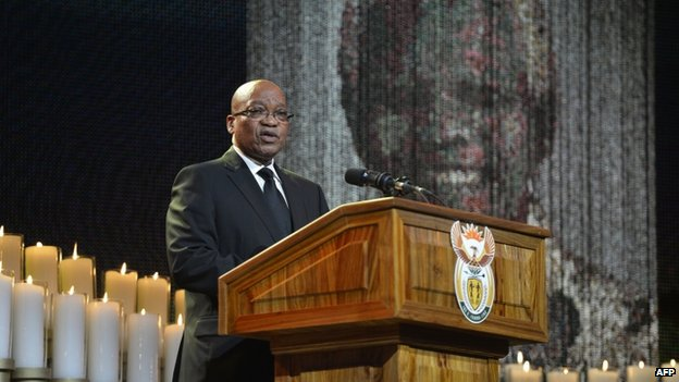 President Jacob Zuma said South Africans would continue to build on Mr Mandela's legacy