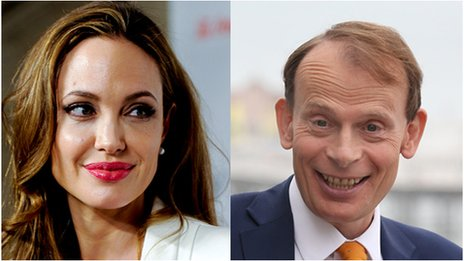Angelina Jolie and Andrew Marr