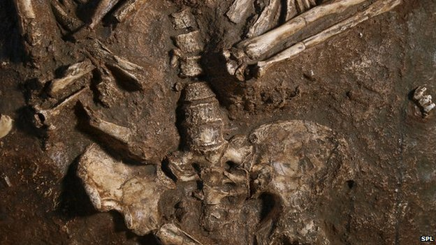 Neanderthal remains found in the Kebara Cave in Israel