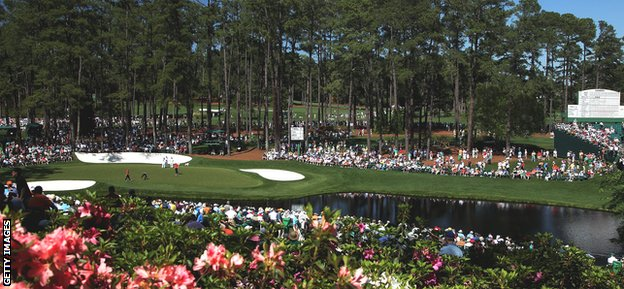 The Augusta National hosts the Masters in April