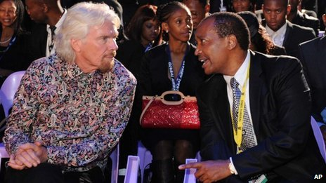 Richard Branson was among the  guests at the funeral ceremony of Nelson Mandela