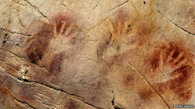 The Panel of Hands at El Castillo Cave, Spain