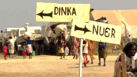 Signposts in Bentiu camp