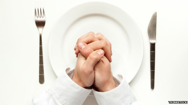 Praying over an empty plate