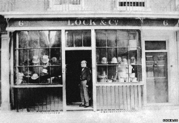 Lock & Co's shop in the 19th Century
