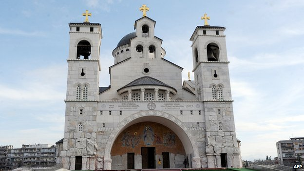 The Church of Resurrection in Podgorica