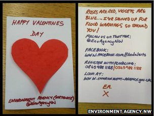 A Valentine's Day message from the Environment Agency